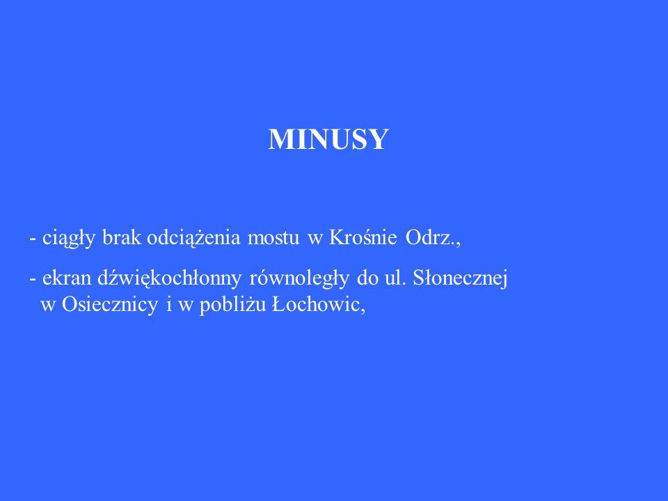 MINUSY - ciągły brak odciążenia mostu w Krośnie Odrz.,