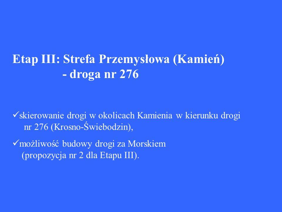 Etap III: Strefa Przemysłowa (Kamień) - droga nr 276