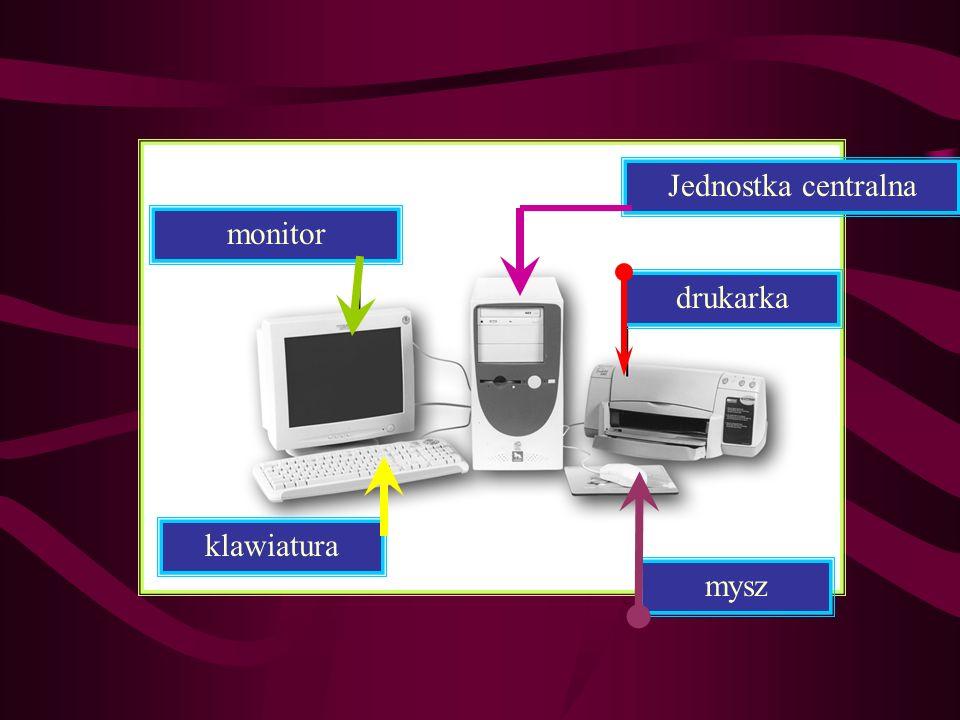 mysz drukarka Jednostka centralna monitor klawiatura