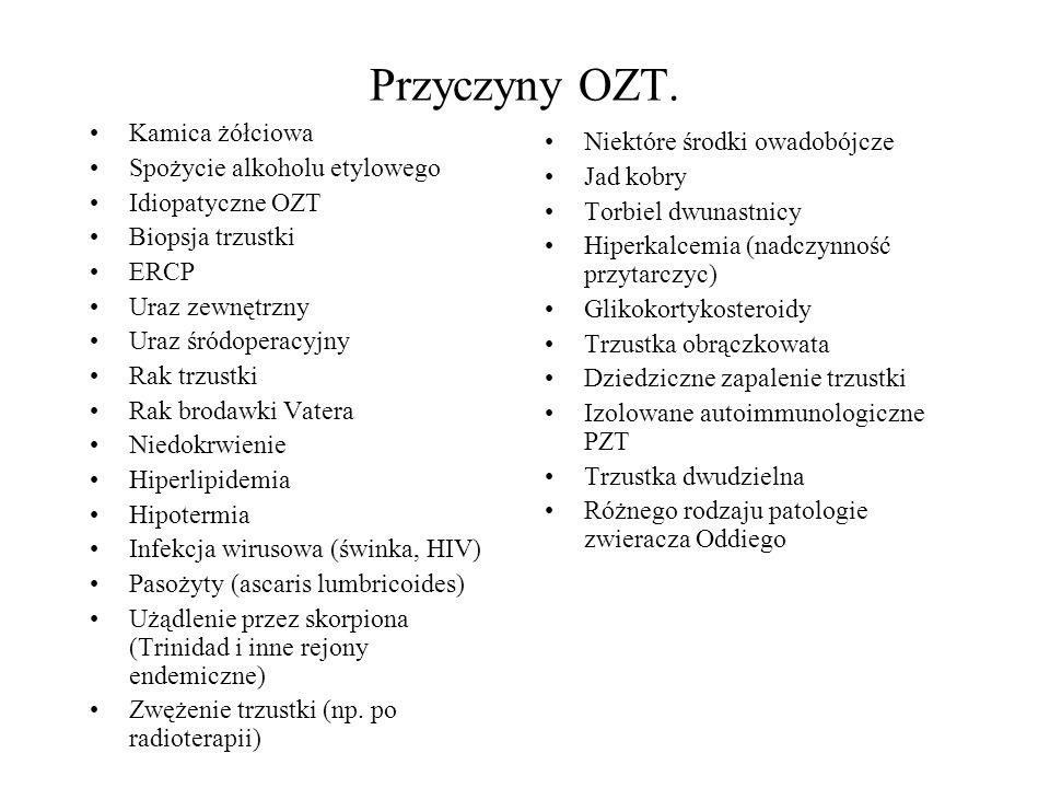 Przyczyny OZT. Kamica żółciowa Niektóre środki owadobójcze