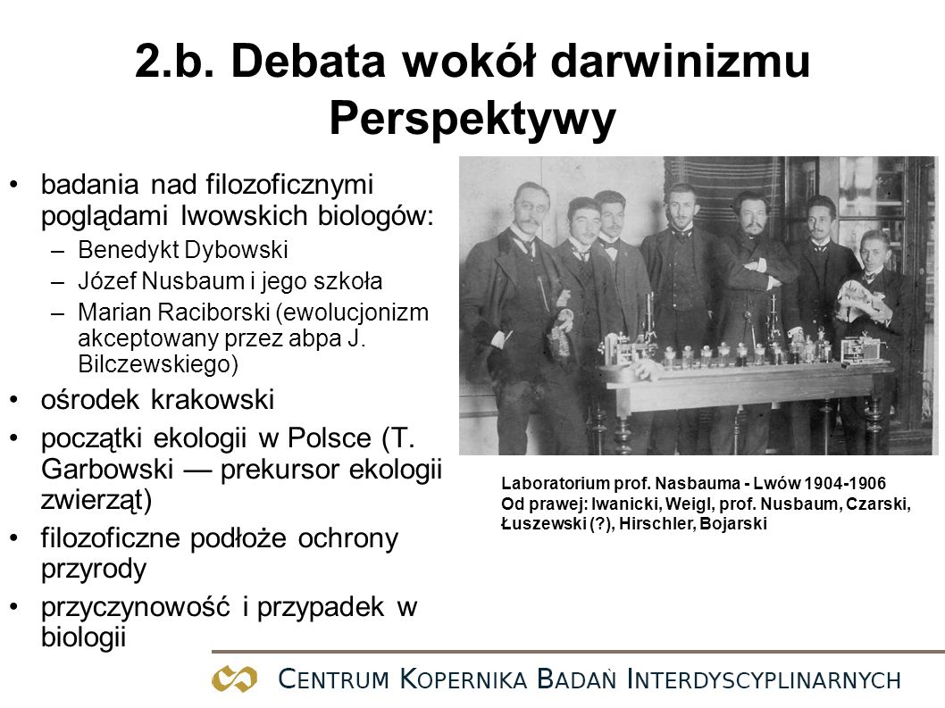 2.b. Debata wokół darwinizmu Perspektywy