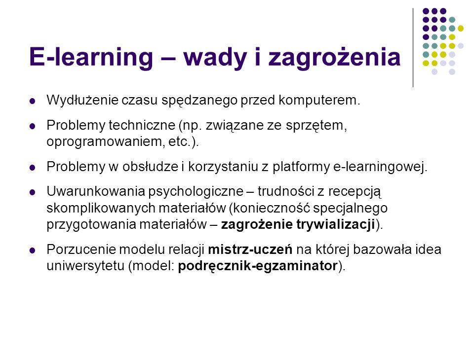 E-learning – wady i zagrożenia