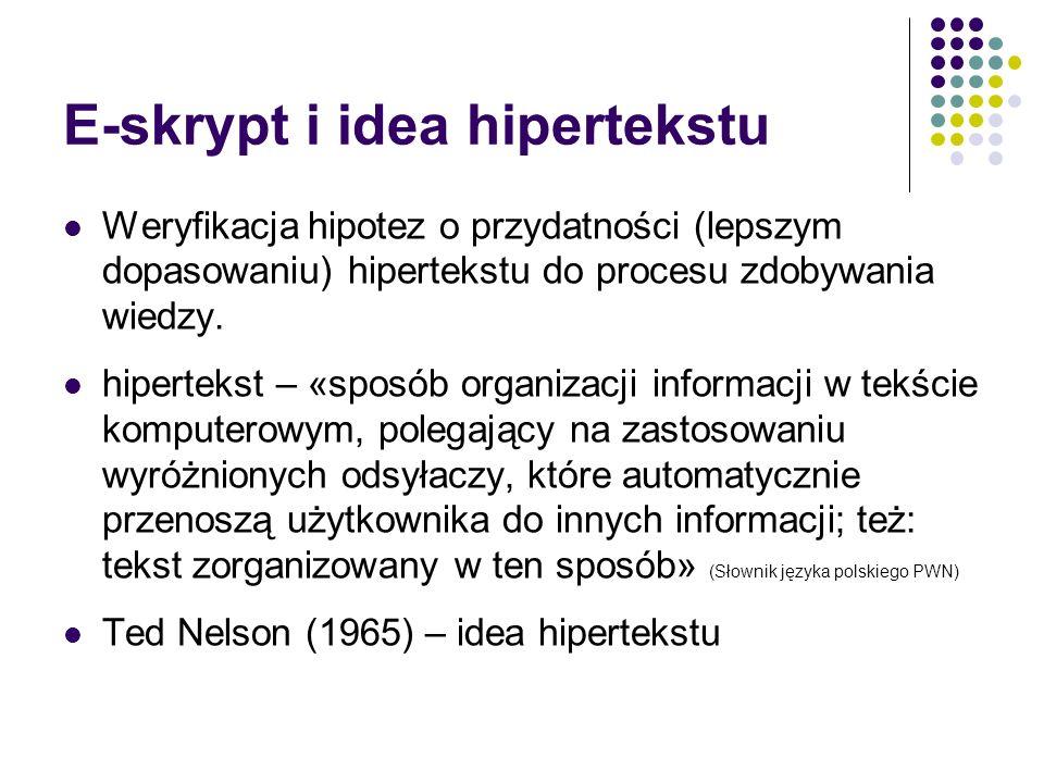 E-skrypt i idea hipertekstu