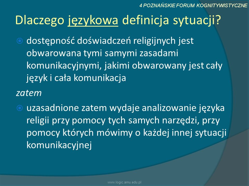 Dlaczego językowa definicja sytuacji