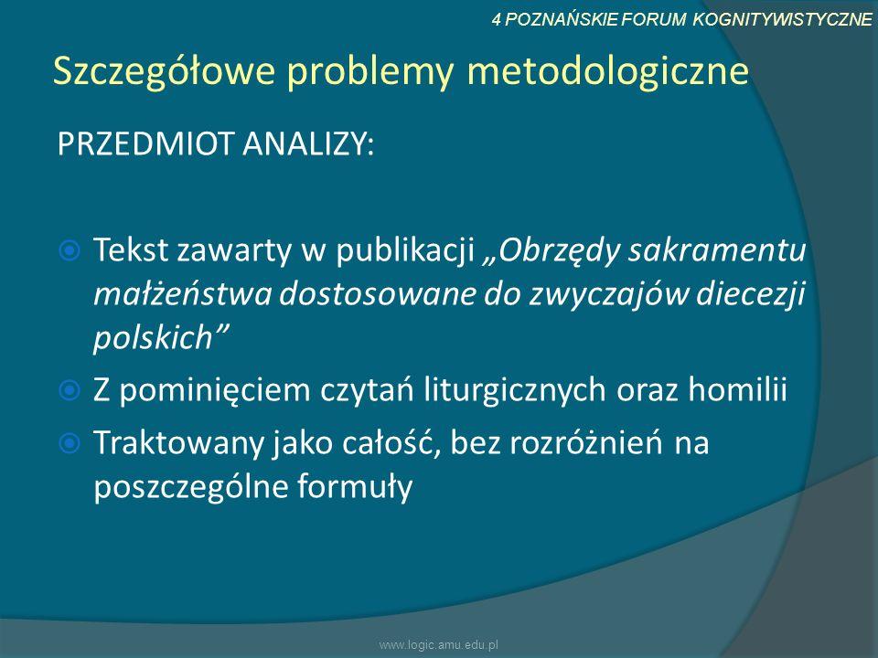 Szczegółowe problemy metodologiczne