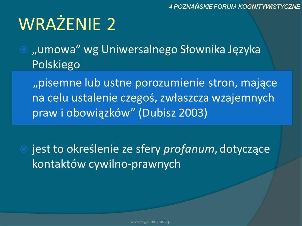 """WRAŻENIE 2 """"umowa wg Uniwersalnego Słownika Języka Polskiego"""