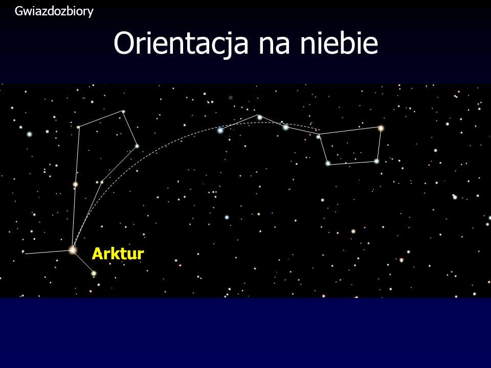 Gwiazdozbiory Orientacja na niebie Arktur
