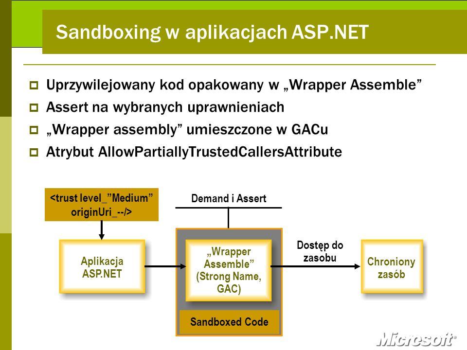 Sandboxing w aplikacjach ASP.NET
