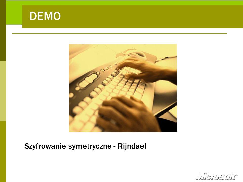 DEMO Szyfrowanie symetryczne - Rijndael