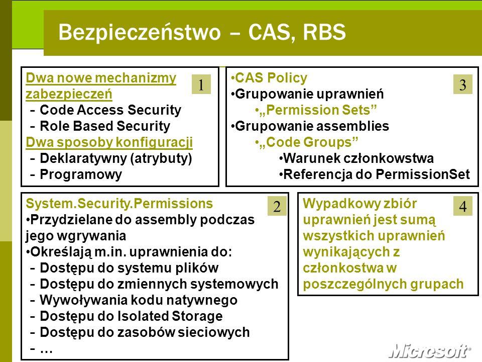 Bezpieczeństwo – CAS, RBS