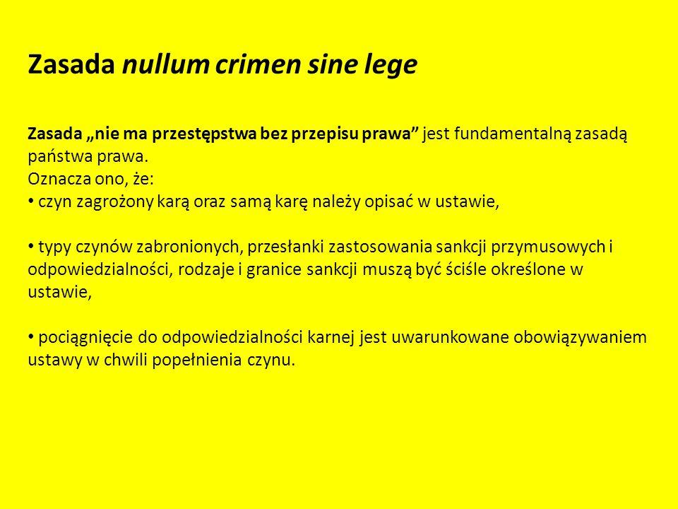 Zasada nullum crimen sine lege