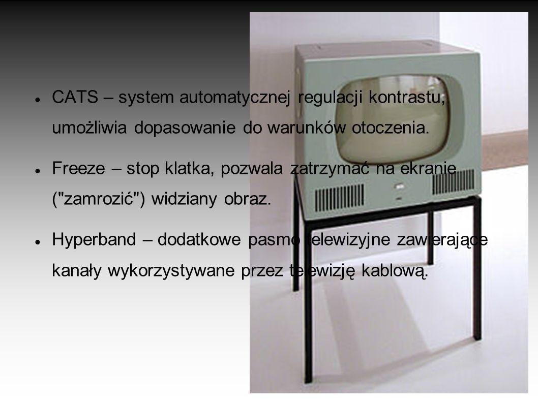 CATS – system automatycznej regulacji kontrastu, umożliwia dopasowanie do warunków otoczenia.