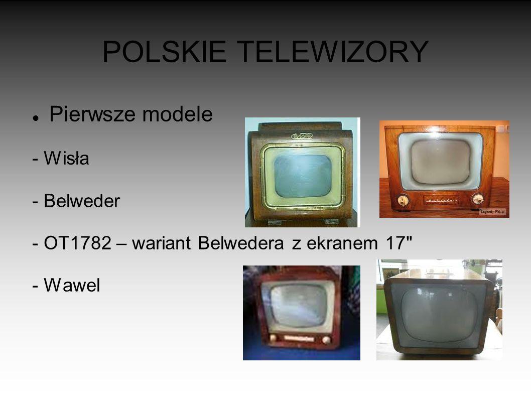 POLSKIE TELEWIZORY Pierwsze modele - Wisła - Belweder