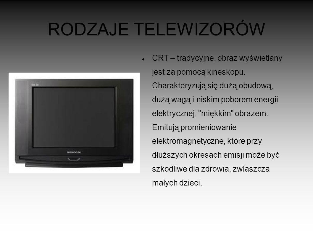 RODZAJE TELEWIZORÓW