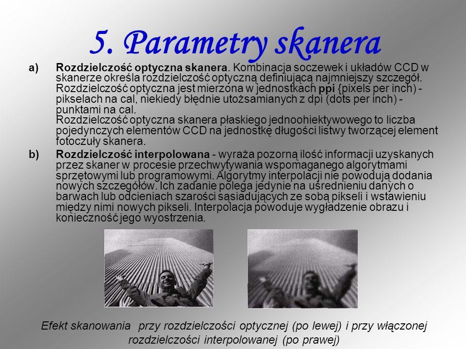 5. Parametry skanera