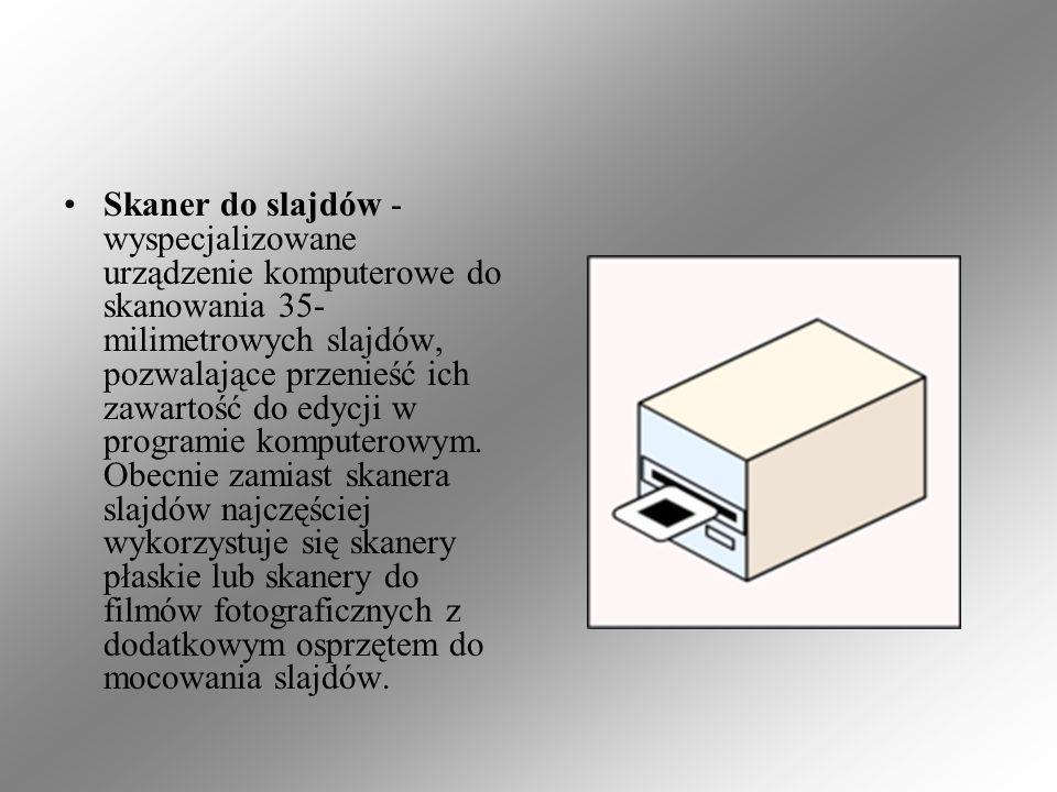 Skaner do slajdów - wyspecjalizowane urządzenie komputerowe do skanowania 35-milimetrowych slajdów, pozwalające przenieść ich zawartość do edycji w programie komputerowym.