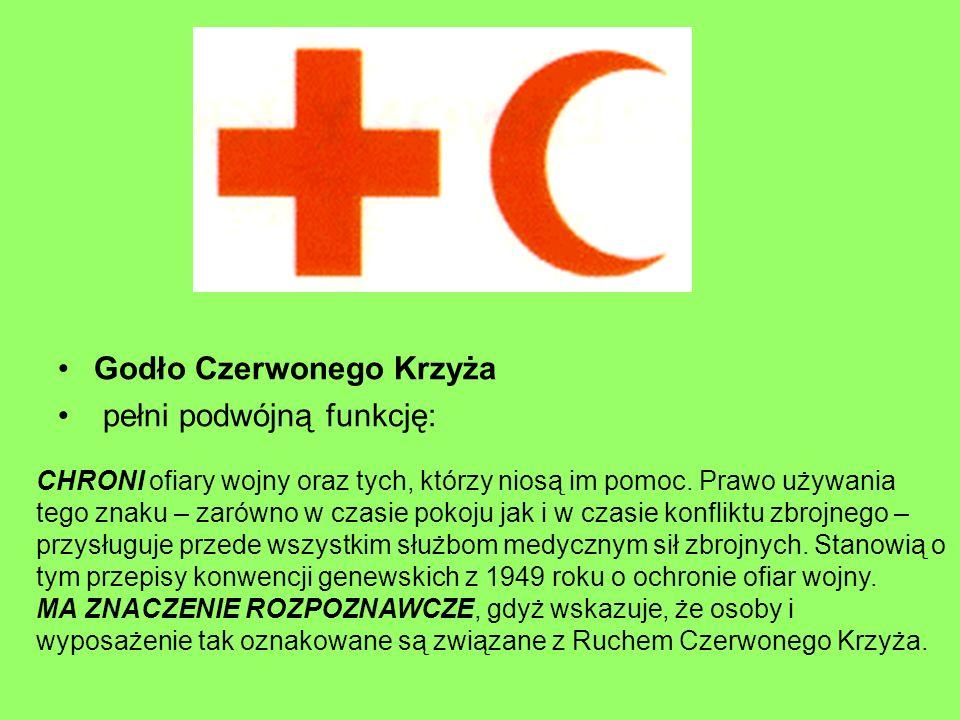 Godło Czerwonego Krzyża pełni podwójną funkcję: