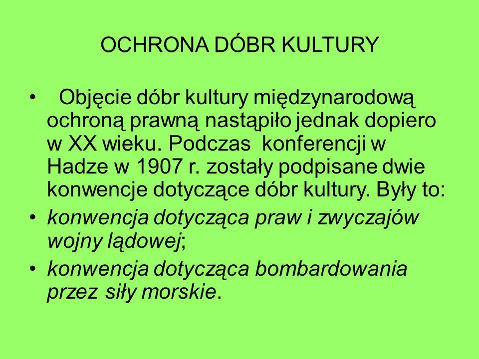 OCHRONA DÓBR KULTURY