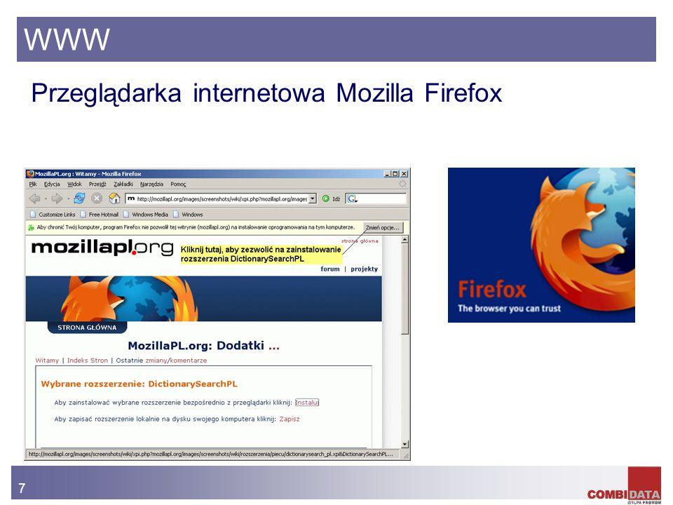 WWW Przeglądarka internetowa Mozilla Firefox