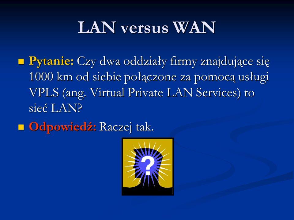 LAN versus WAN