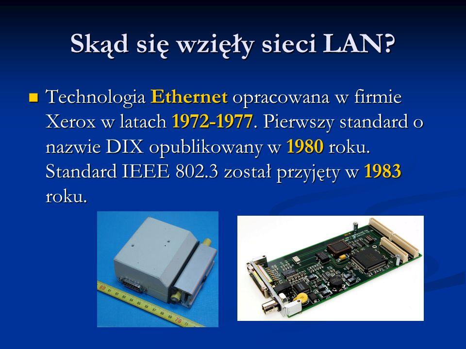 Skąd się wzięły sieci LAN