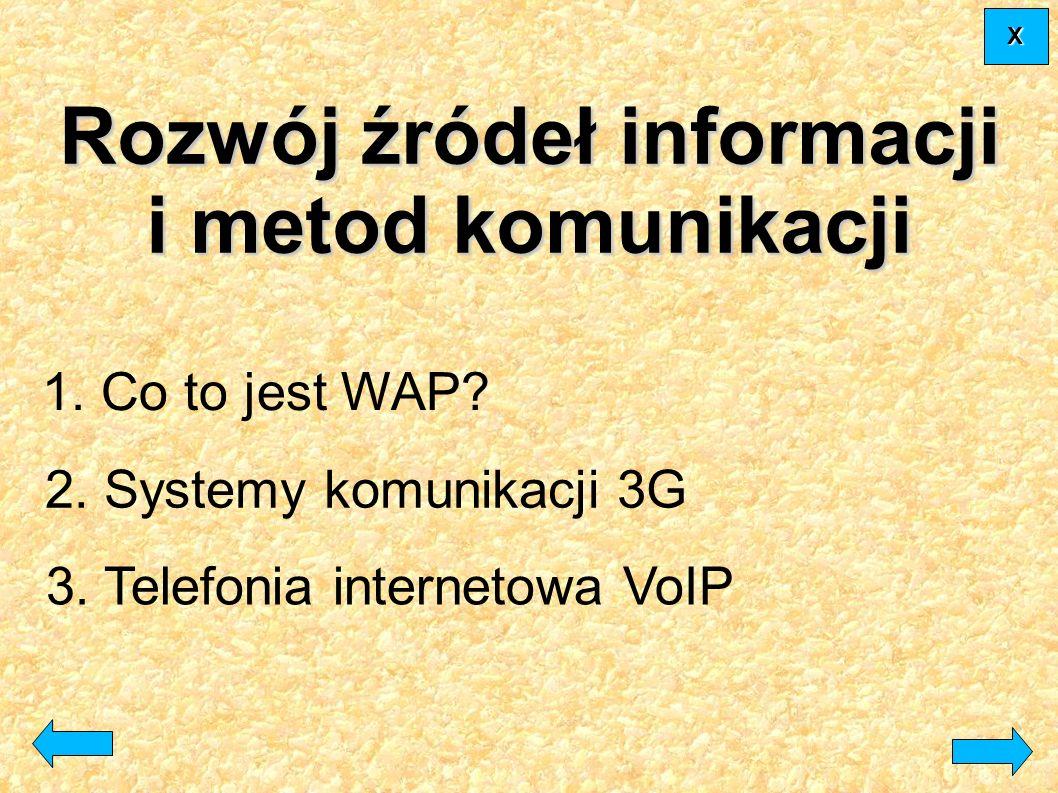 Rozwój źródeł informacji i metod komunikacji