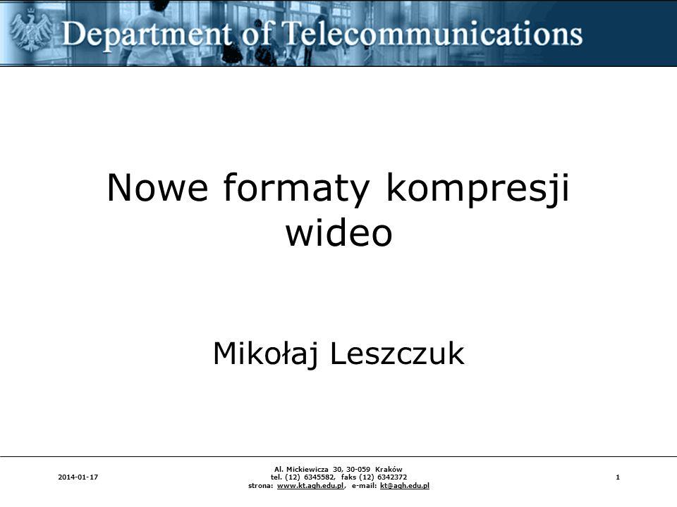 Nowe formaty kompresji wideo