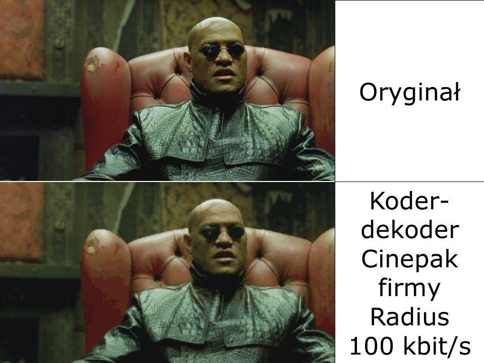 Koder-dekoder Cinepak firmy Radius 100 kbit/s