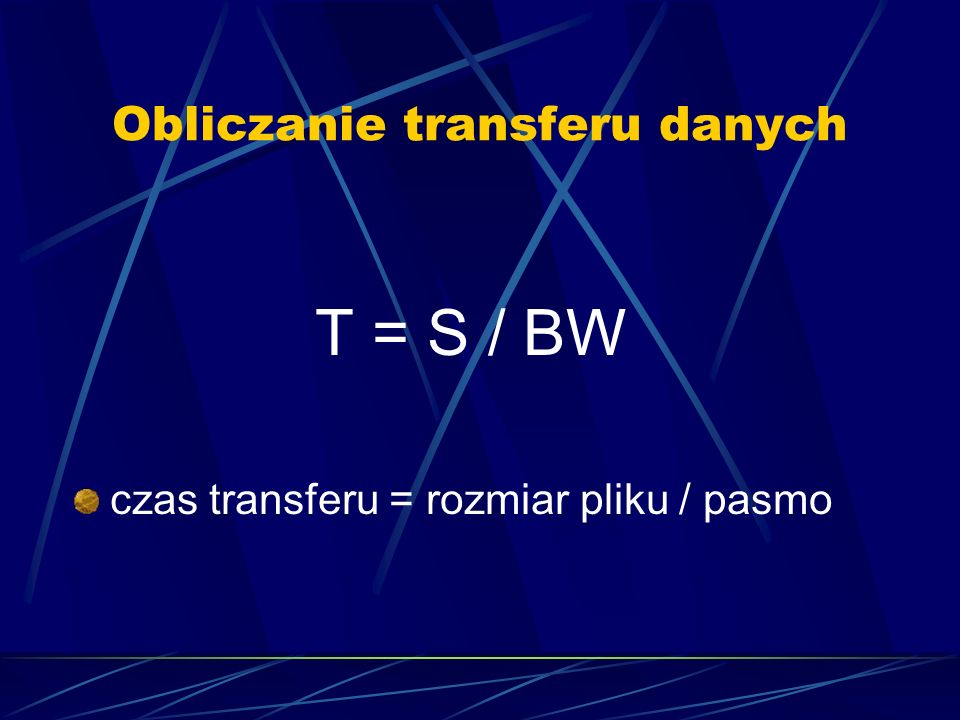 Obliczanie transferu danych