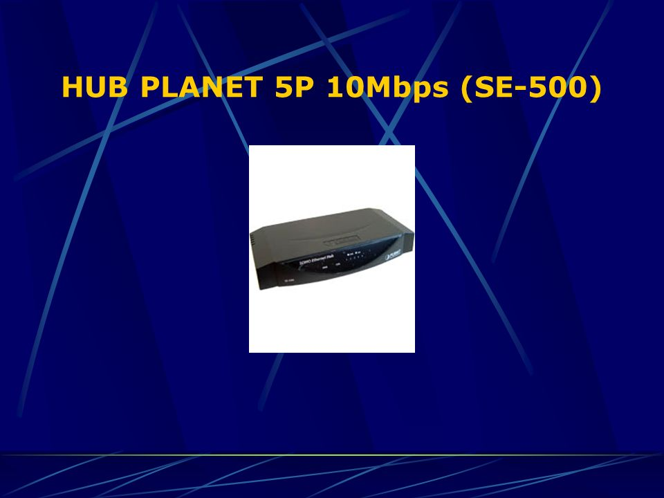 HUB PLANET 5P 10Mbps (SE-500)