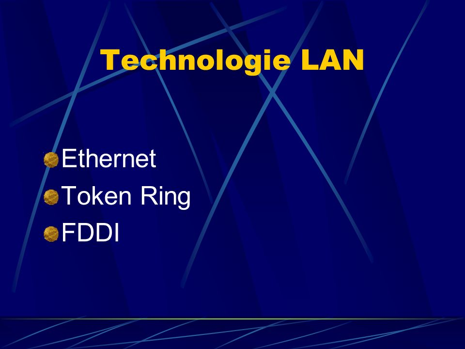 Technologie LAN Ethernet Token Ring FDDI
