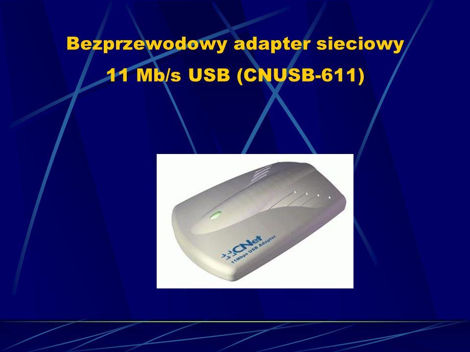Bezprzewodowy adapter sieciowy 11 Mb/s USB (CNUSB-611)