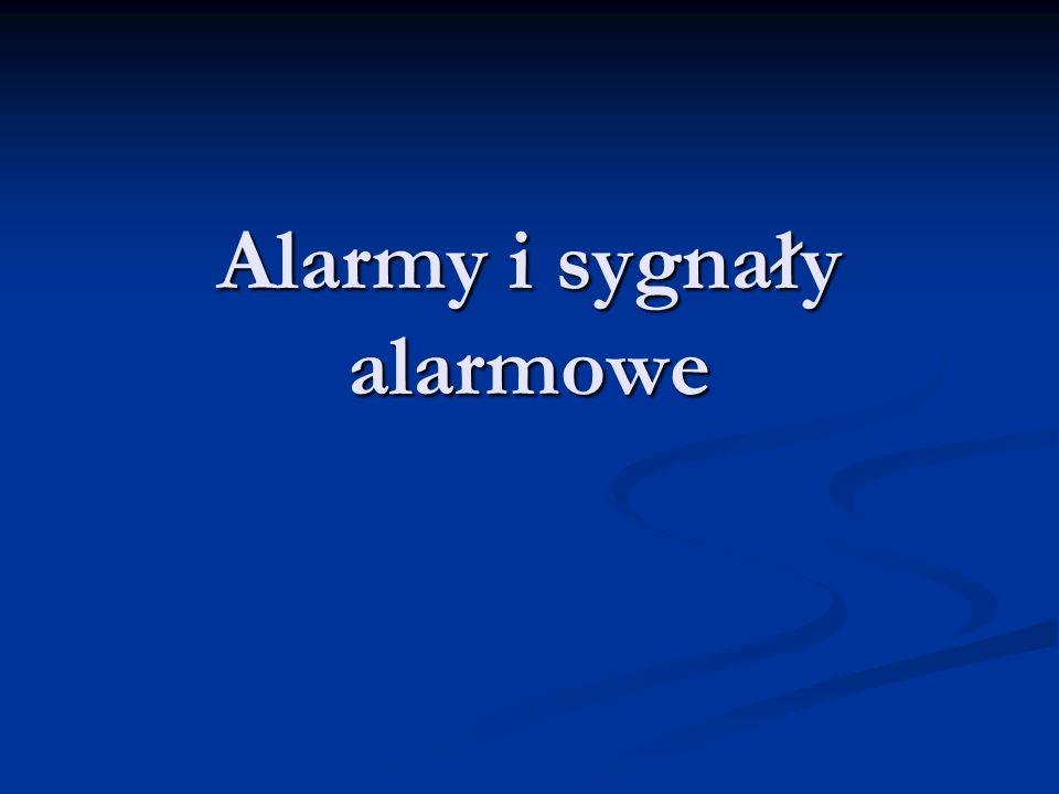 Alarmy i sygnały alarmowe