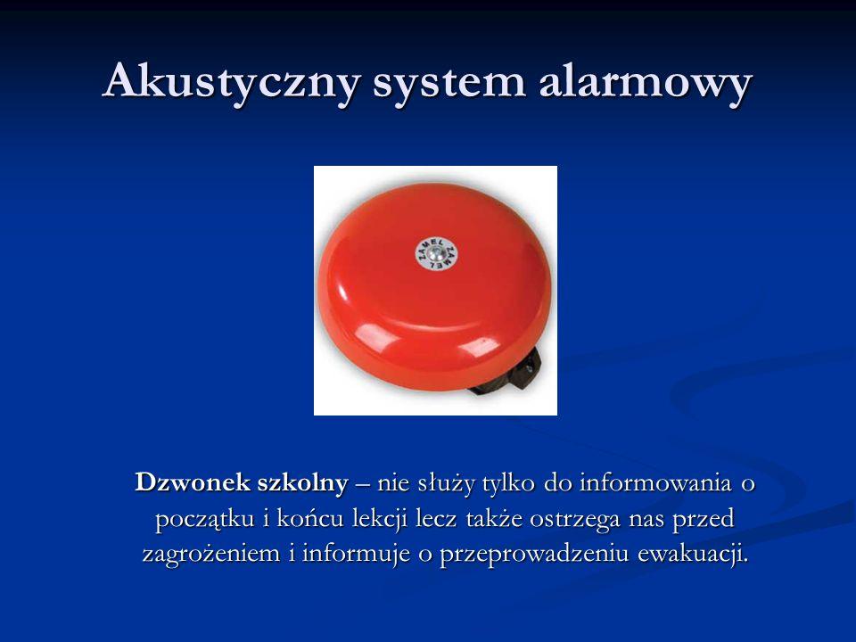 Akustyczny system alarmowy