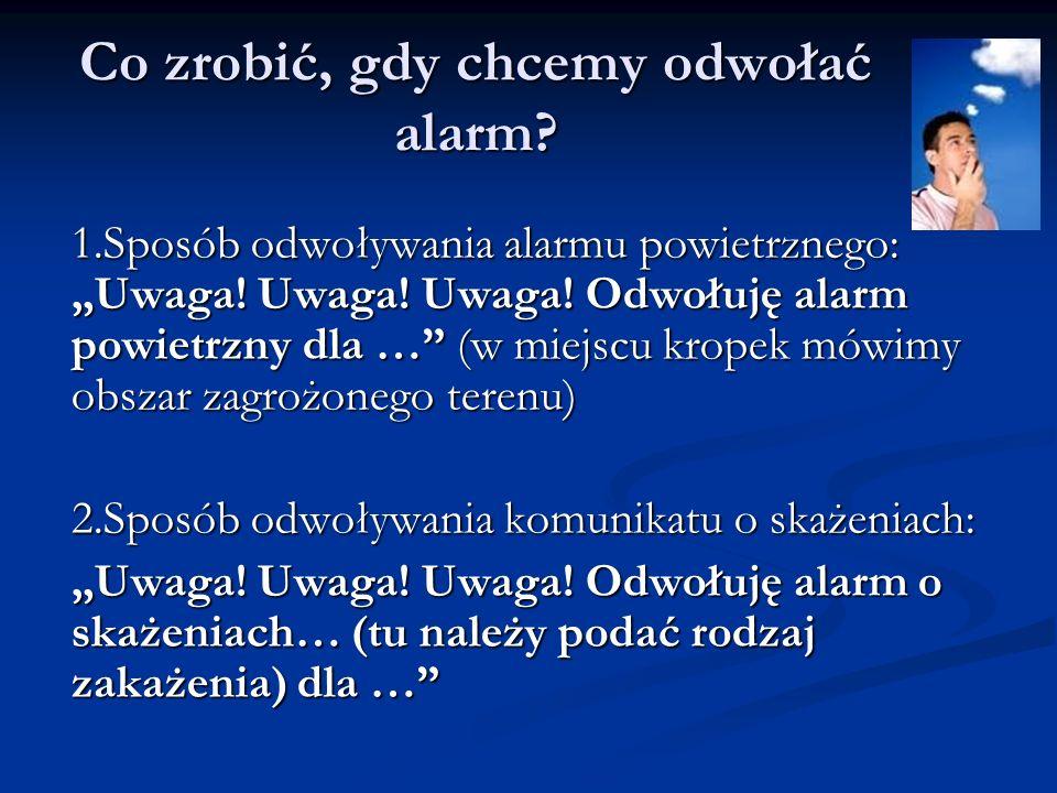 Co zrobić, gdy chcemy odwołać alarm