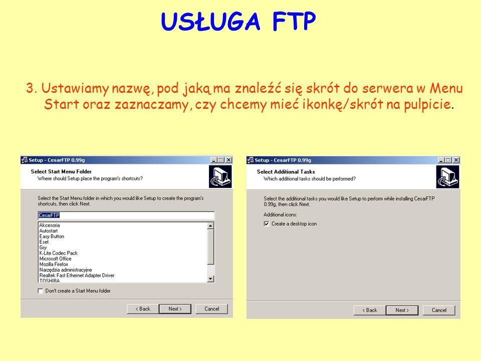 USŁUGA FTP 3.