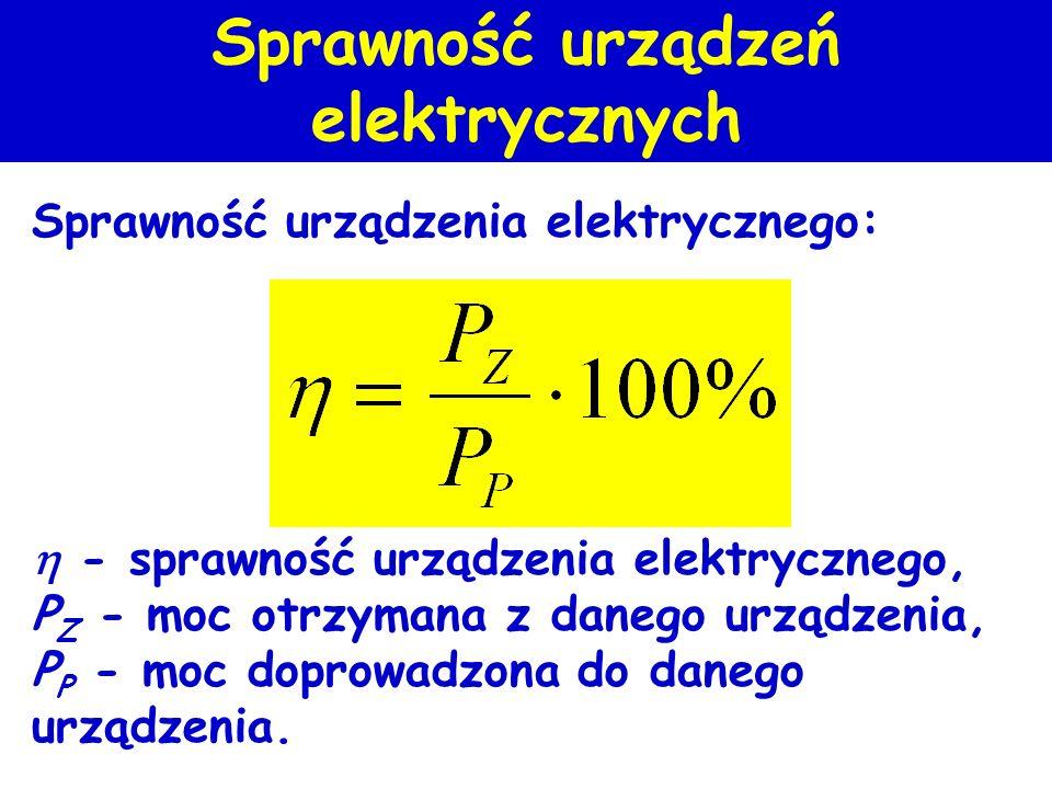 Sprawność urządzeń elektrycznych