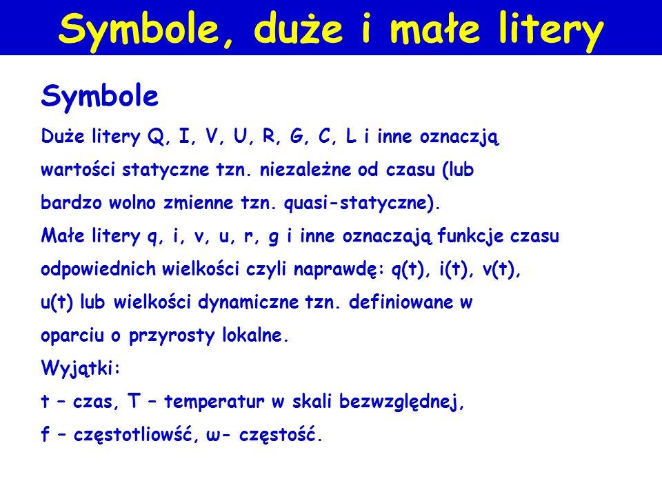 Symbole, duże i małe litery