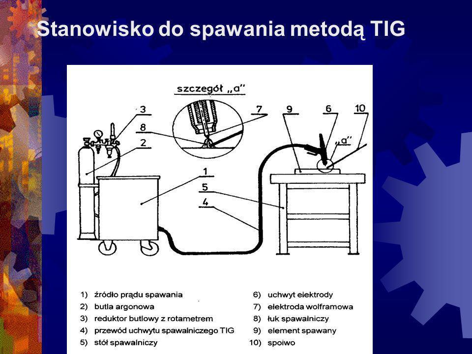 Stanowisko do spawania metodą TIG