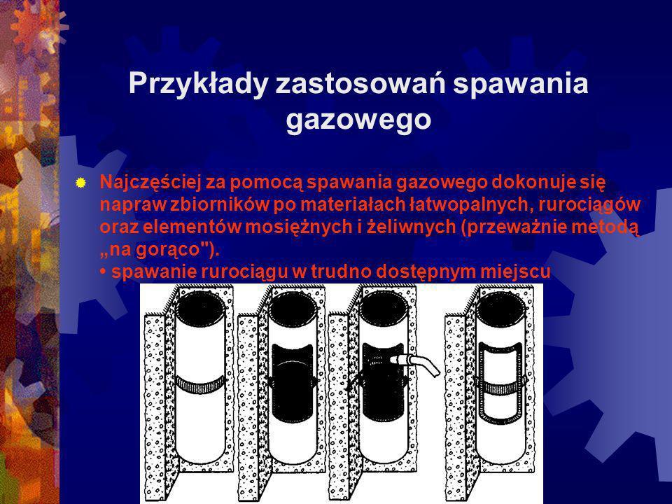Przykłady zastosowań spawania gazowego