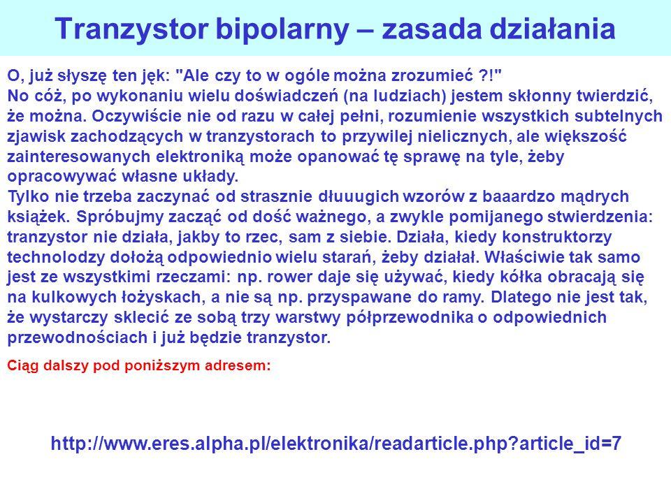 Tranzystor bipolarny – zasada działania