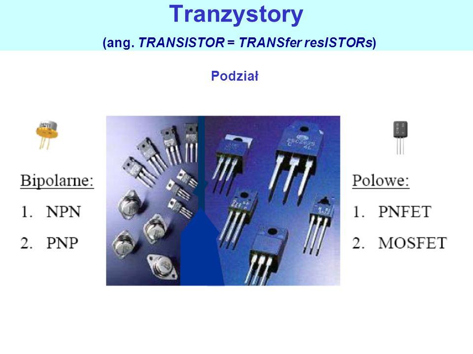 Tranzystory (ang. TRANSISTOR = TRANSfer resISTORs)