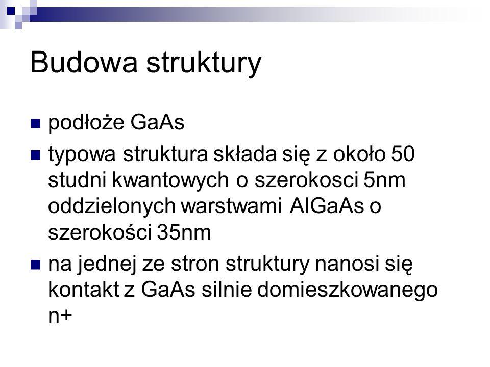 Budowa struktury podłoże GaAs