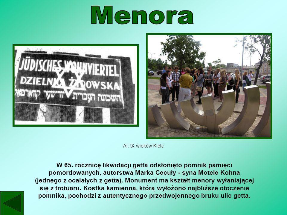 MenoraAl. IX wieków Kielc.