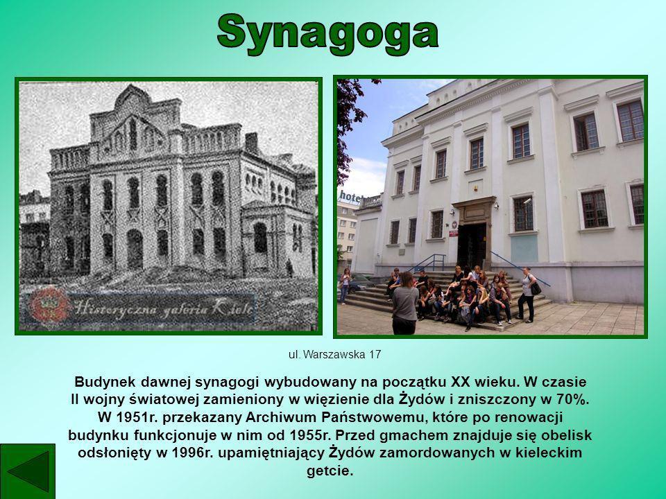 Synagoga ul. Warszawska 17.