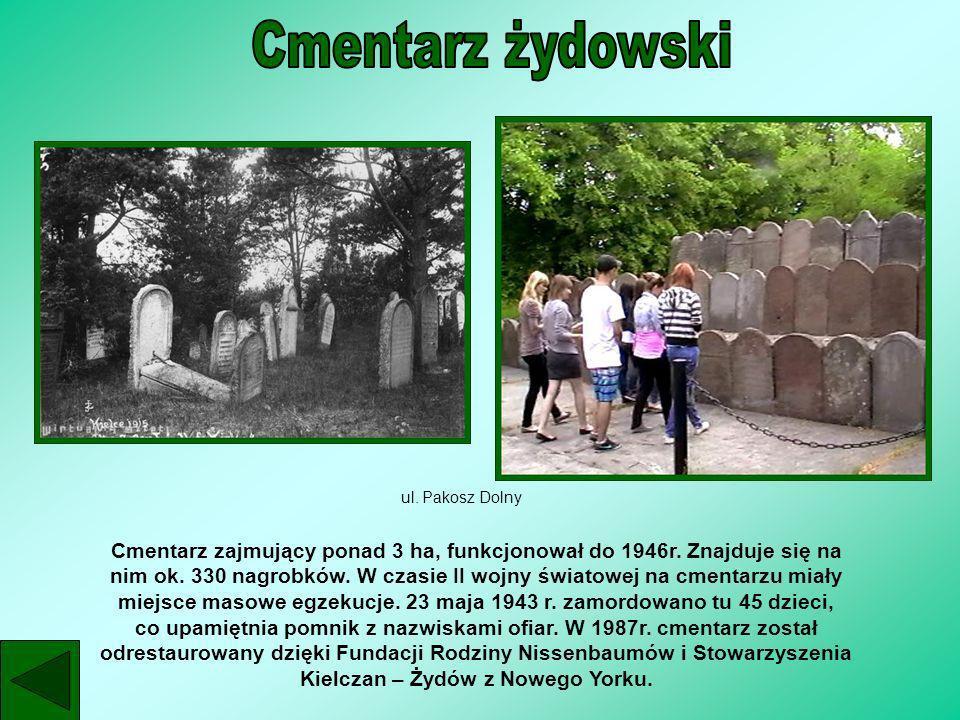 Cmentarz żydowskiul. Pakosz Dolny.
