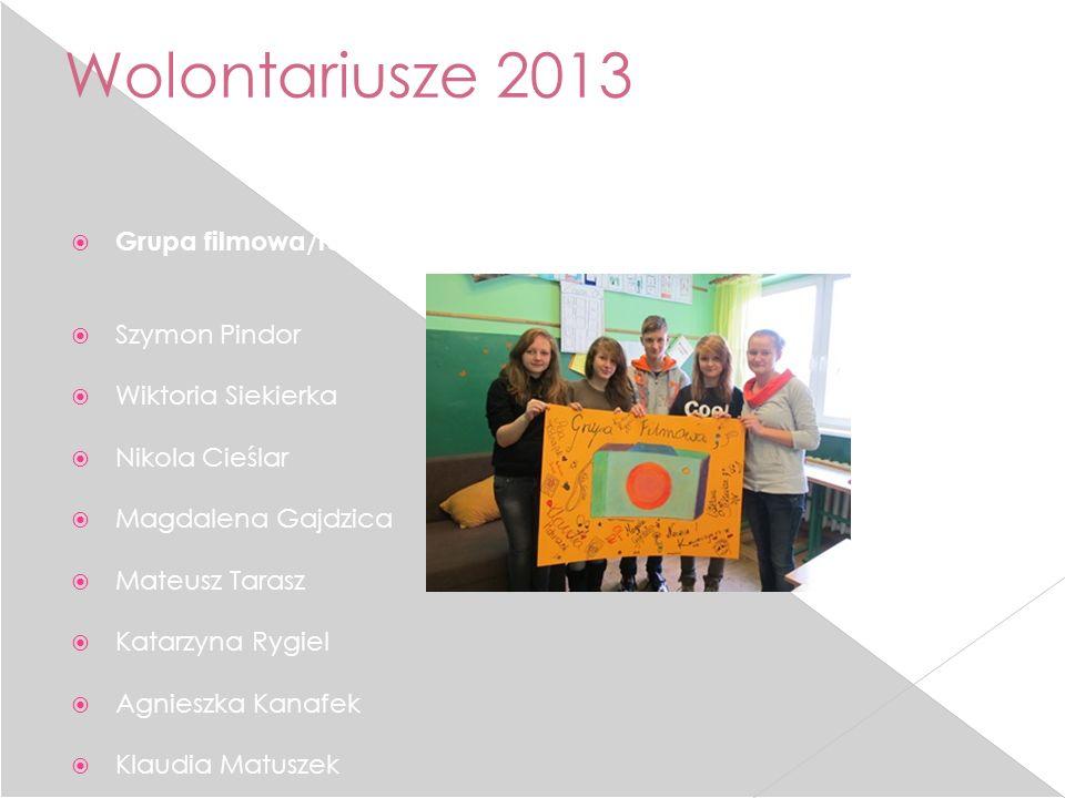 Wolontariusze 2013 Grupa filmowa/fotograficzna: Szymon Pindor