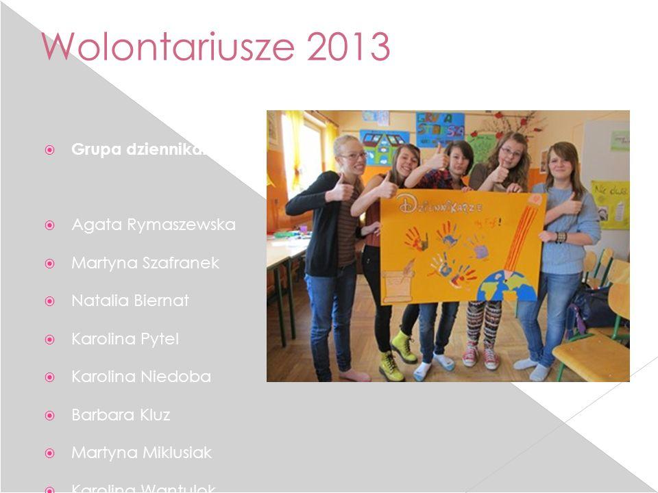 Wolontariusze 2013 Grupa dziennikarska: Agata Rymaszewska