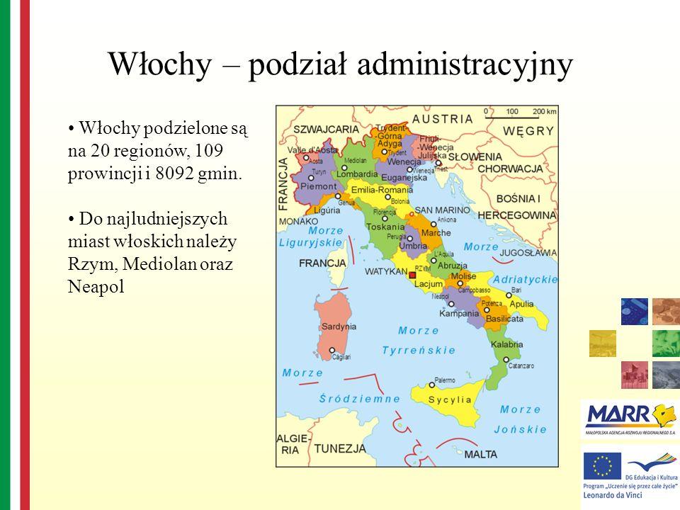 Włochy – podział administracyjny