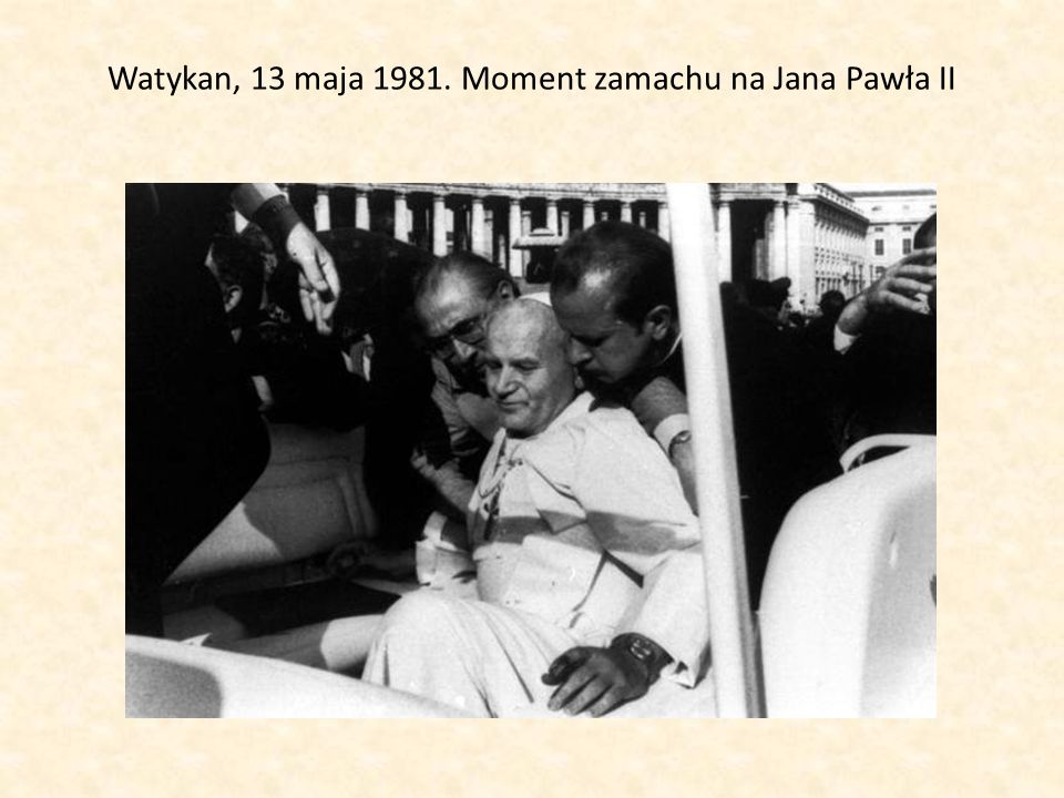 Watykan, 13 maja 1981. Moment zamachu na Jana Pawła II